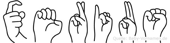 Xerius in Fingersprache für Gehörlose
