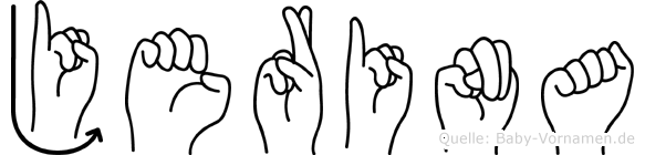 Jerina im Fingeralphabet der Deutschen Gebärdensprache