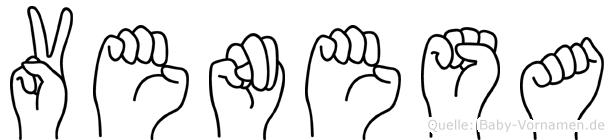 Venesa im Fingeralphabet der Deutschen Gebärdensprache