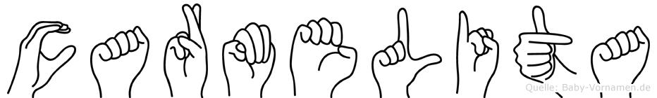 Carmelita in Fingersprache für Gehörlose