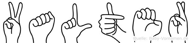 Valter in Fingersprache für Gehörlose
