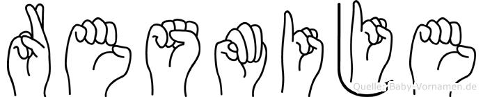 Resmije im Fingeralphabet der Deutschen Gebärdensprache