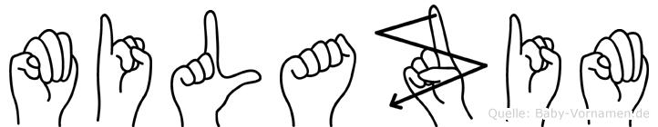 Milazim im Fingeralphabet der Deutschen Gebärdensprache