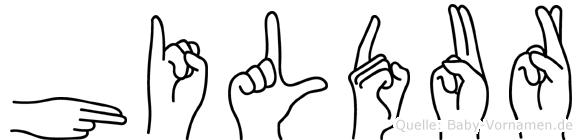 Hildur in Fingersprache für Gehörlose