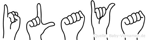 Ilaya im Fingeralphabet der Deutschen Gebärdensprache
