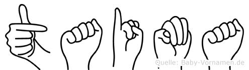 Taima im Fingeralphabet der Deutschen Gebärdensprache