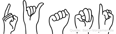 Dyani in Fingersprache für Gehörlose