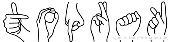 Toprak im Fingeralphabet der Deutschen Gebärdensprache