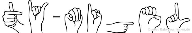Ty-Migel im Fingeralphabet der Deutschen Gebärdensprache