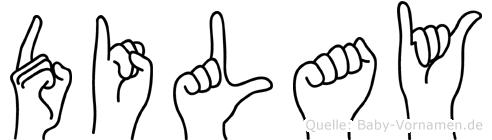 Dilay im Fingeralphabet der Deutschen Gebärdensprache