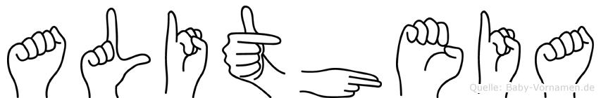 Alitheia in Fingersprache für Gehörlose