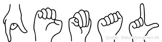 Qemal in Fingersprache für Gehörlose