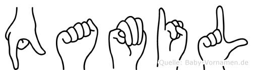 Qamil in Fingersprache für Gehörlose