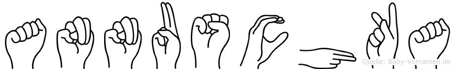 Annuschka im Fingeralphabet der Deutschen Gebärdensprache