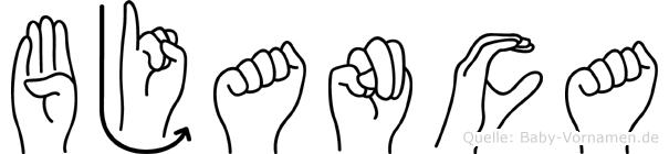 Bjanca in Fingersprache für Gehörlose