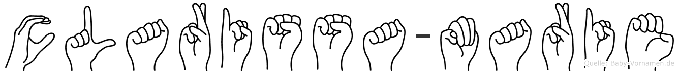 Clarissa-Marie im Fingeralphabet der Deutschen Gebärdensprache