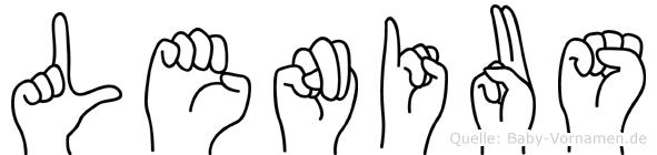 Lenius im Fingeralphabet der Deutschen Gebärdensprache