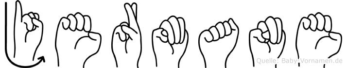 Jermane in Fingersprache für Gehörlose