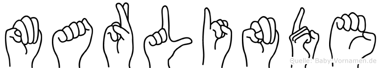 Marlinde im Fingeralphabet der Deutschen Gebärdensprache