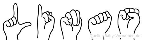 Linas im Fingeralphabet der Deutschen Gebärdensprache