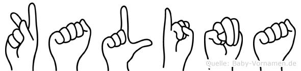 Kalina im Fingeralphabet der Deutschen Gebärdensprache