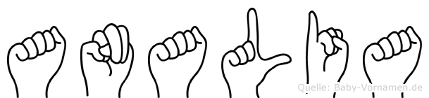 Analia in Fingersprache für Gehörlose