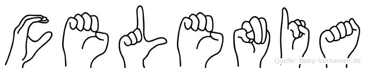 Celenia in Fingersprache für Gehörlose