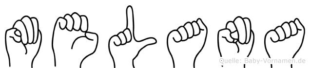 Melana in Fingersprache für Gehörlose