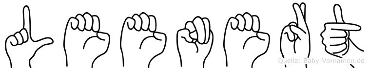 Leenert im Fingeralphabet der Deutschen Gebärdensprache