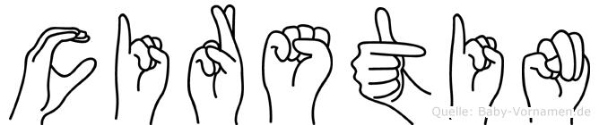 Cirstin im Fingeralphabet der Deutschen Gebärdensprache