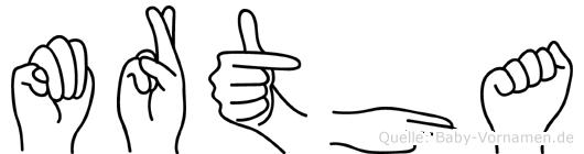 Märtha in Fingersprache für Gehörlose