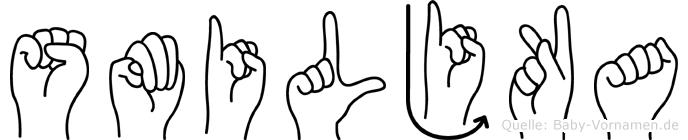 Smiljka in Fingersprache für Gehörlose
