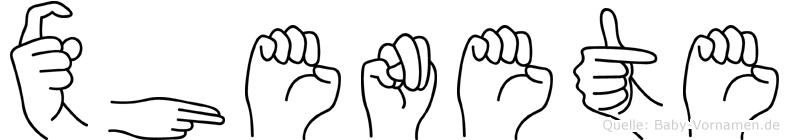 Xhenete im Fingeralphabet der Deutschen Gebärdensprache