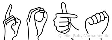 Dota in Fingersprache für Gehörlose