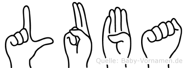 Luba in Fingersprache für Gehörlose