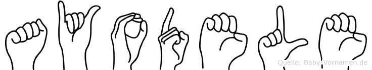 Ayodele in Fingersprache für Gehörlose