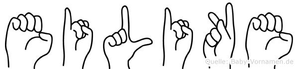 Eilike im Fingeralphabet der Deutschen Gebärdensprache