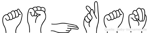 Ashkan in Fingersprache für Gehörlose