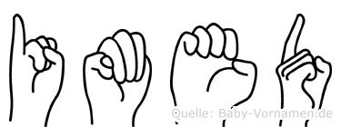 Imed in Fingersprache für Gehörlose