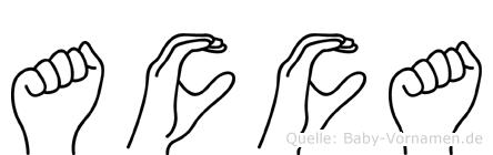 Acca in Fingersprache für Gehörlose