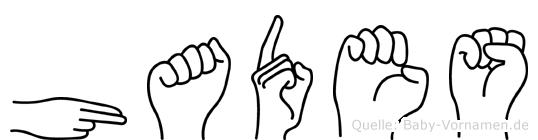 Hades in Fingersprache für Gehörlose