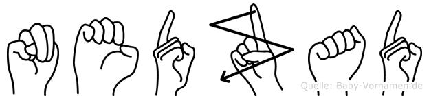 Nedzad im Fingeralphabet der Deutschen Gebärdensprache