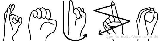 Fejzo in Fingersprache für Gehörlose
