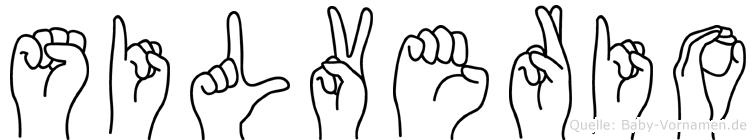 Silverio in Fingersprache für Gehörlose