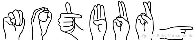 Notburg in Fingersprache für Gehörlose