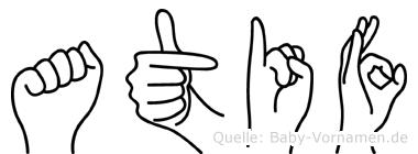 Atif in Fingersprache für Gehörlose