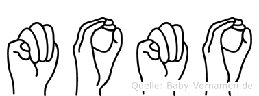 Momo in Fingersprache für Gehörlose