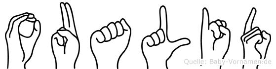 Oualid im Fingeralphabet der Deutschen Gebärdensprache