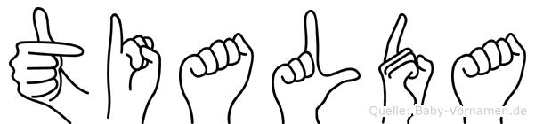 Tialda in Fingersprache für Gehörlose
