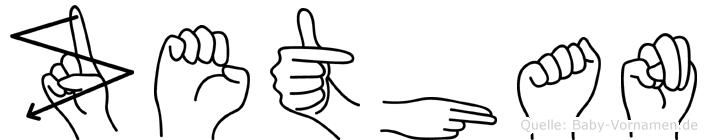 Zethan in Fingersprache für Gehörlose